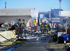 """Brattan was in good spirits on Monday despite the setback.""""An incredible crew of firefighters contained the blaze to those buildings, which appear to be beyond repair. Thankfully no one was hurt and the adjacent clothing, medical equipment, books, media, and computer electronics buildings were all untouched,""""Brattan said."""