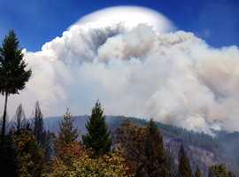 The King Fire created a massive amount of smoke and heavily affected air quality.