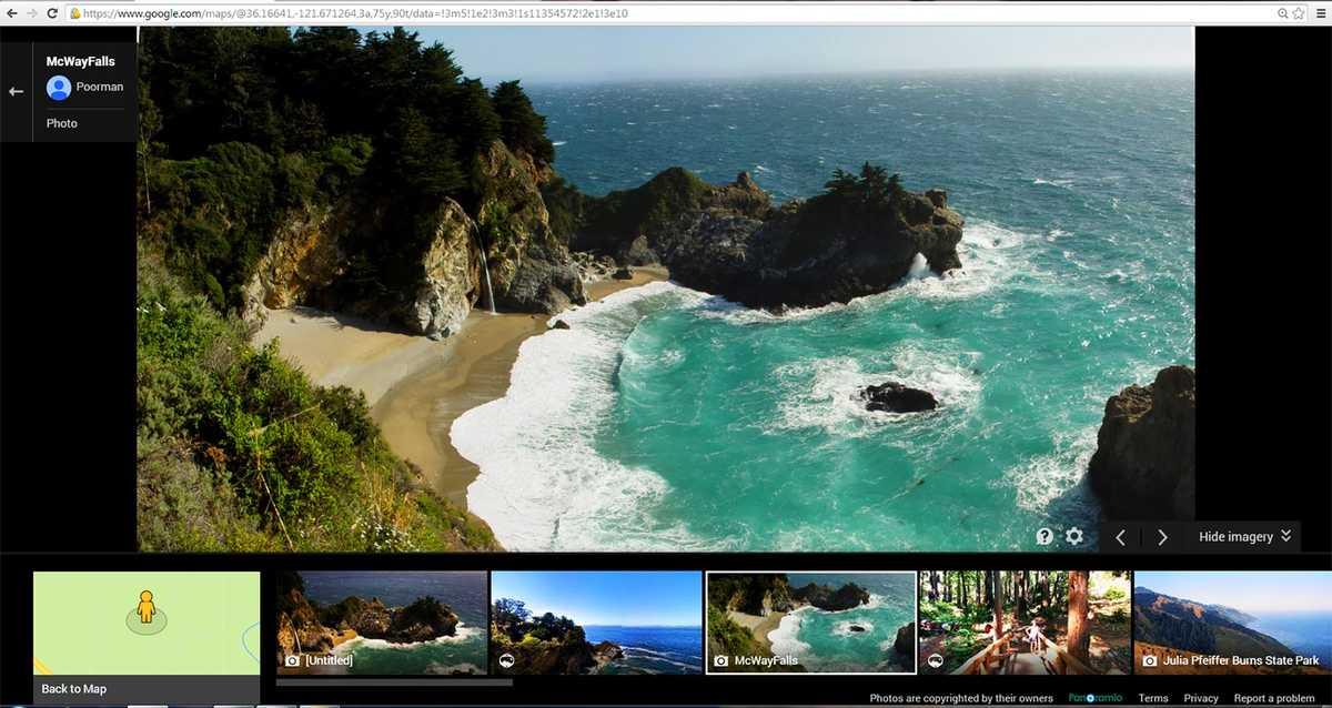 photos google trekker explores big sur hiking trails. Black Bedroom Furniture Sets. Home Design Ideas