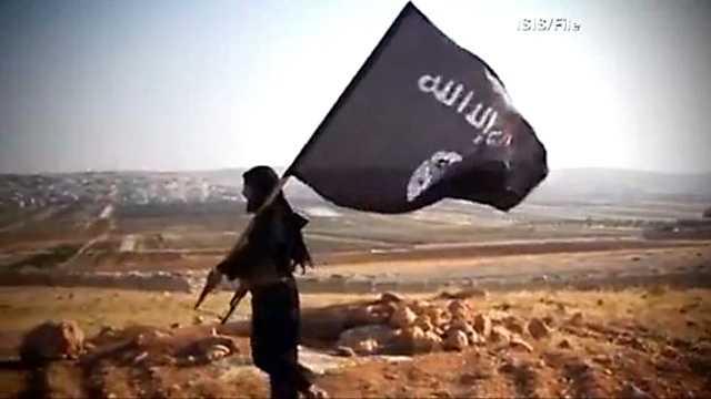 ISIS flag desert