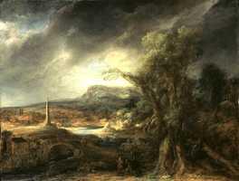 Govaert Flinck, Landscape with an Obelisk, 1638