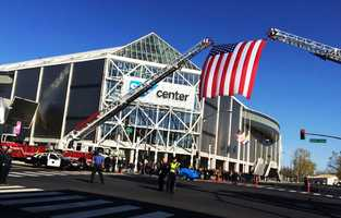 Thousands of officers attended the funeral, which began at 11 a.m. Thursday at the SAP Center.