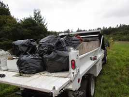 """""""Believe it or not, this was the second organized cleanup effort in this very same location. The previous cleanup occurred just two weeks prior,"""" police said."""
