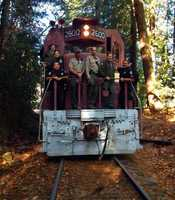 Big Trees Railroad joined the team and hauled away mounds of garbage.