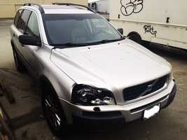 Investigators found a silver 2004 Volvo XC90 sport utility vehicle that they believe struck Brown. The Volvo is show here, and has a damaged front headlight. It was abandoned in Watsonville.