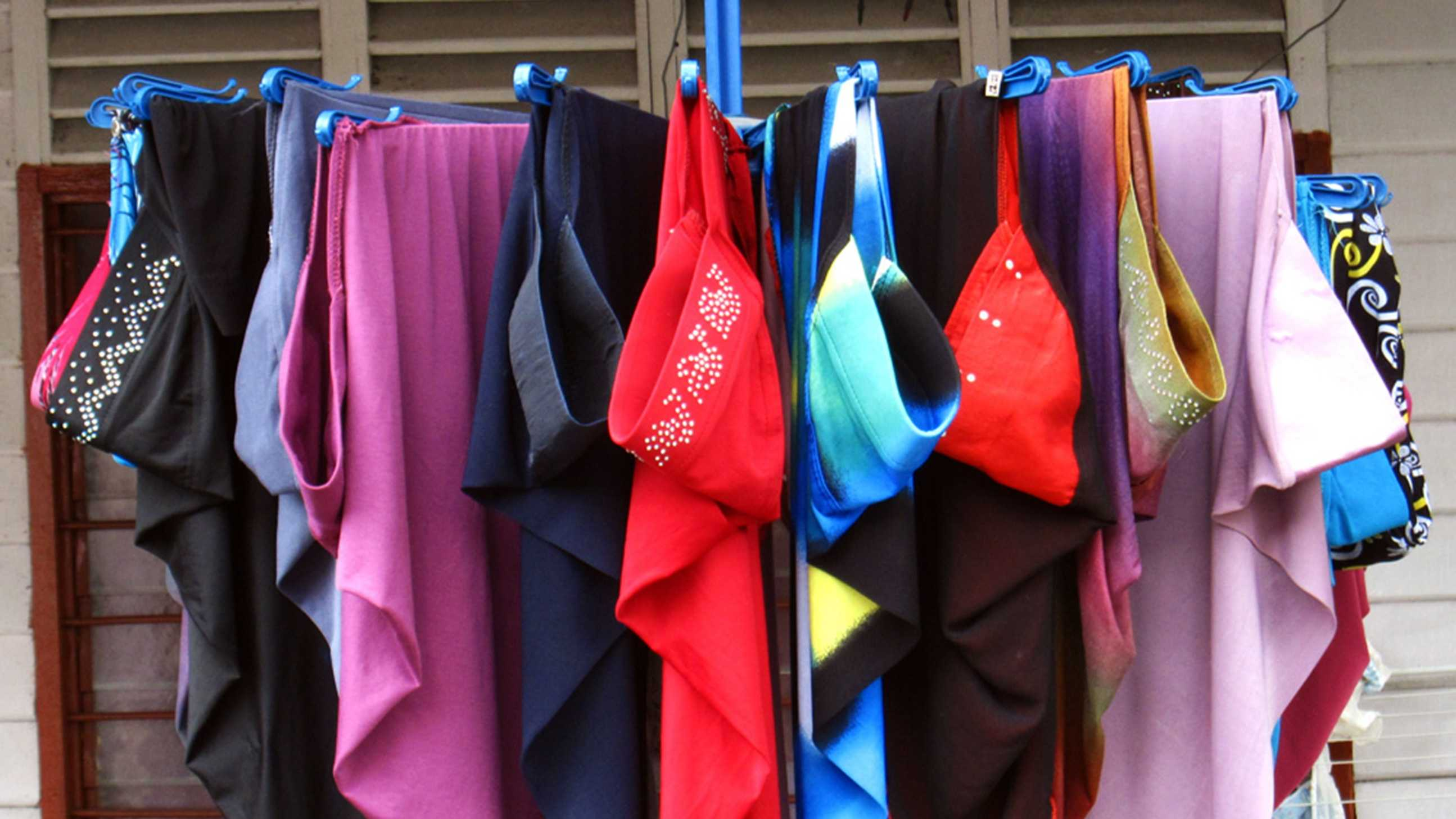 colorful hijabs