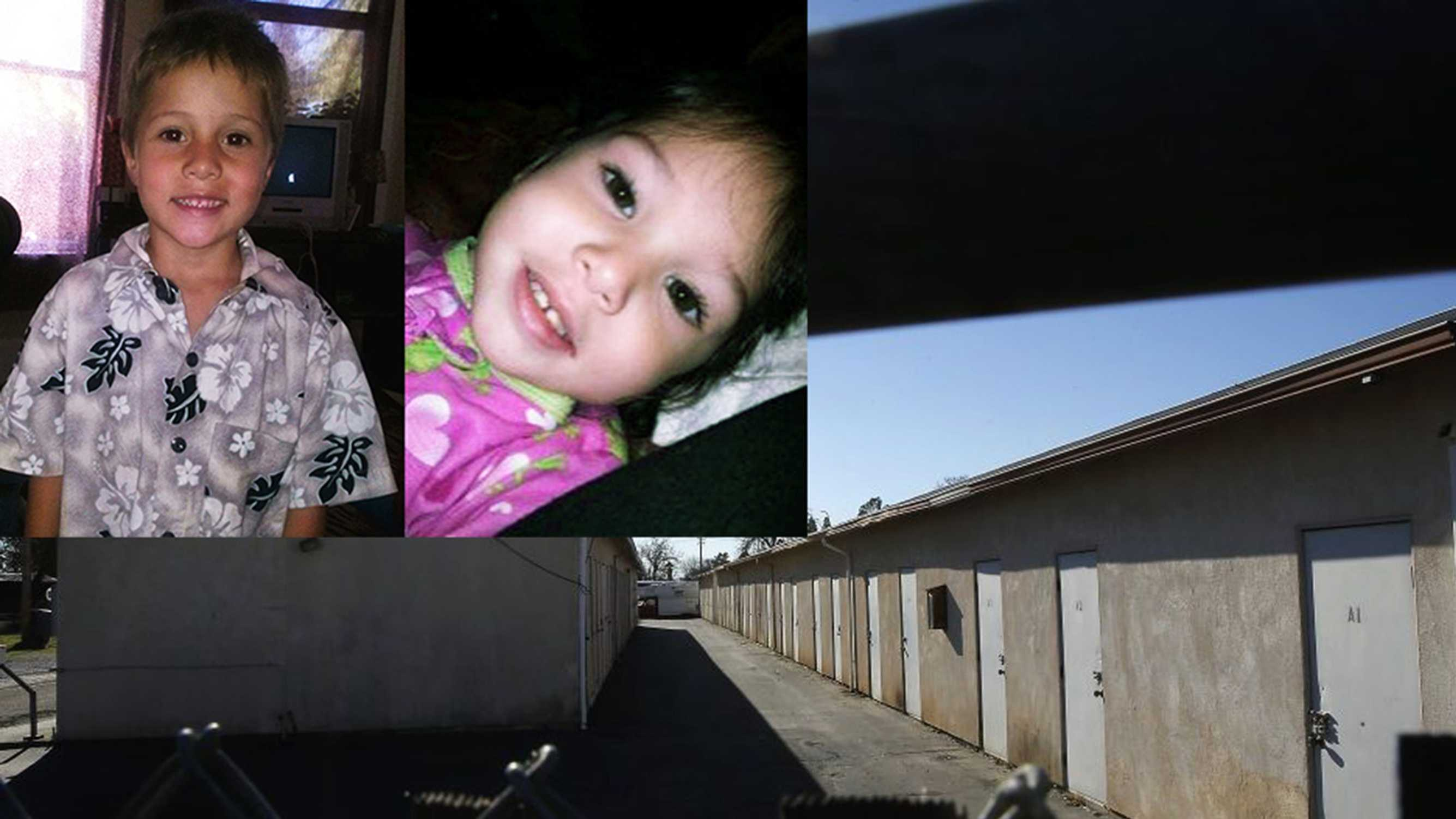 The bodies of Shaun and Delylah were found in this Redding, Calif., storage locker.
