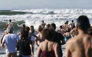 The Dolphin Club of San Francisco holds its annual Polar Bear Challenge competition as well as a New Year's Day swim.