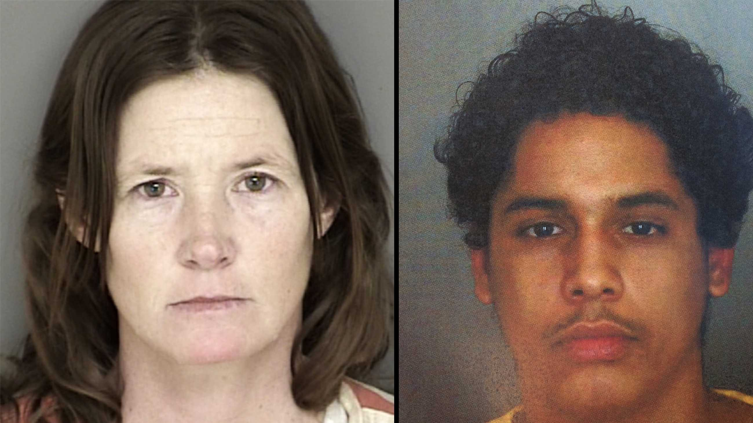 Tami Huntsman and Gonzalo Curiel are seen in mug shots photographed on Jan. 6, 2016.