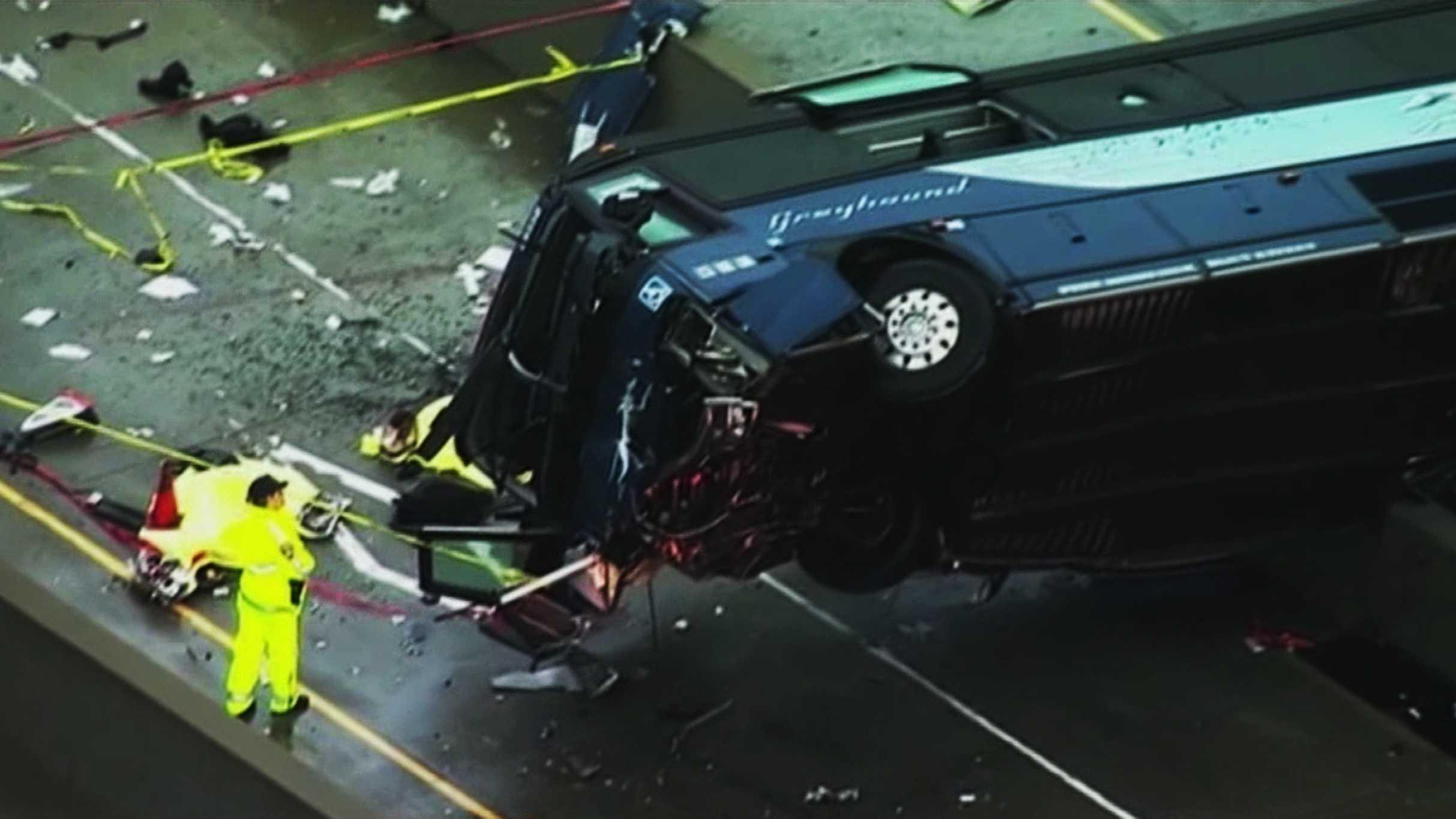 Greyhound bus crash San Jose