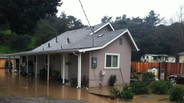 Storm floods home in Castroville, closes roads in Salinas