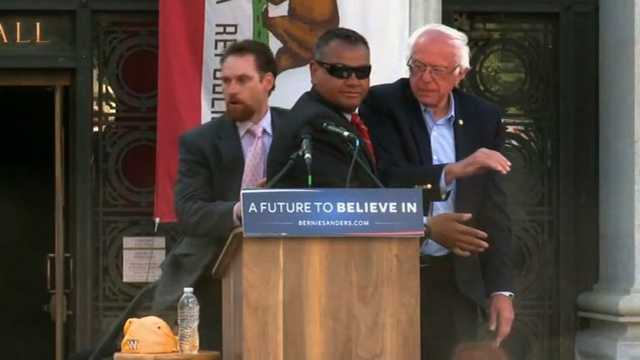 Secret Service Bernie Sanders rally