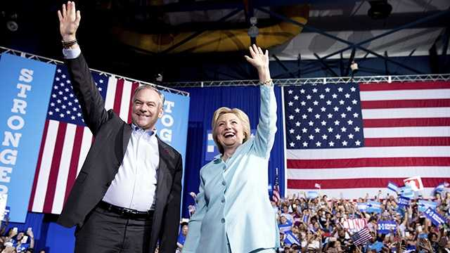 Hillary Clinton, Tim Kaine debut as Democratic ticket in Florida