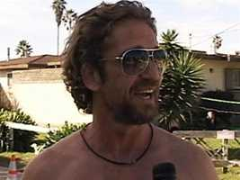 Movie star Gerard Butler said he enjoyed filming in Santa Cruz. (Oct. 14, 2011)