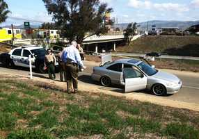 The suspected gunman's car is seen in Gonzales. (Feb. 28, 2012)  Photo by: May Chow / KSBW