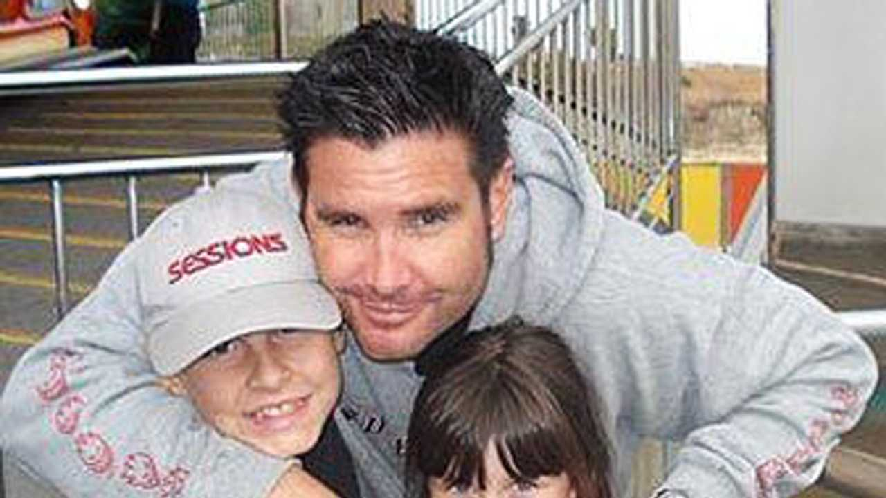 Bryan Stow is seen with his two kids before the 2011 Dodger Stadium attack.