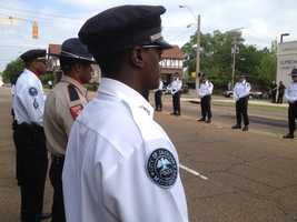 Walter was killed in a shootout that also killed a suspect and injured two other Pearl officers.