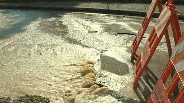 Hot weather caused water main to break