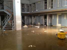 Inmates destroyed a jail pod at the Hinds County Detention Center in 2012.