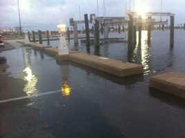 The Biloxi Small Craft Marina Tuesday morning.