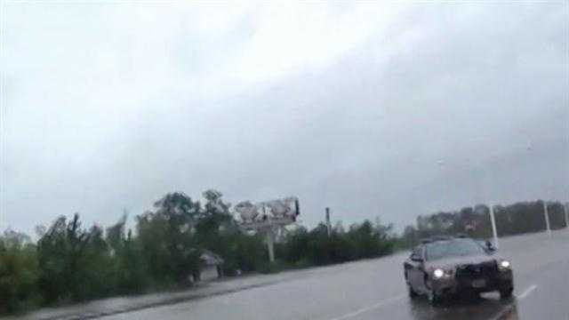 Waveland flooded road