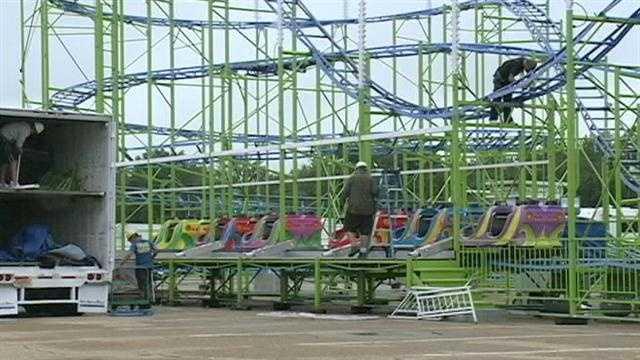 Mississippi State Fair roller coaster