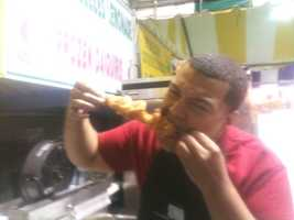 The Mississippi State Fair ran Oct. 3-14 in 2012. 16 WAPT's Andrew Kinsey was one of the first to sample fried 'gator on a stick.