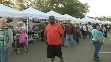 The Canton Flea Market draws thousands of shoppers to town.