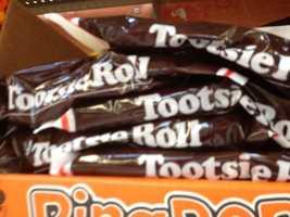 17. Tootsie Rolls