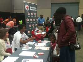 Health care providers were on hand at the Jackson Convention Complex with free flu and pneumonia shots.