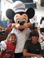 Cade and his sister on a family vacation before he was sick.