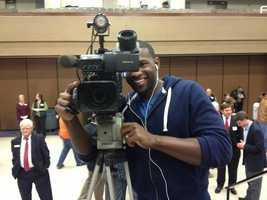 Scott Simmons' view of 16 WAPT photojournalist Joshua Jackson on election night.