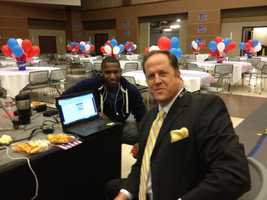 16 WAPT's Joshua Jackson and Scott Simmons in between live shots on Election Day.