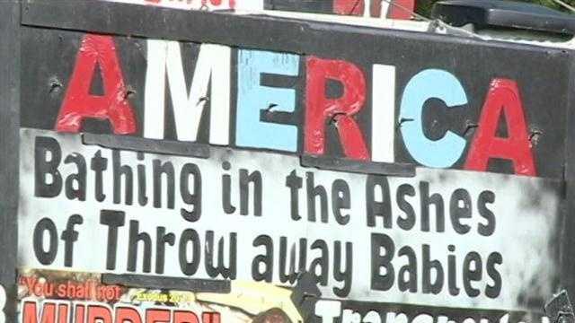 Anti-abortion sign