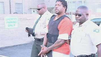 Shawn Waller, who is charged with two counts of murder in the Sharkey County case, wore a bullet-proof vest for his court appearance.