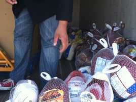 By Thursday afternoon, more than 300 turkeys had been donated.