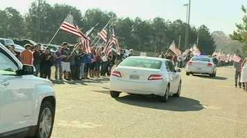 A Rankin County soldier injured in Afghanistan came home for Thanksgiving on Thursday to a warm welcome.