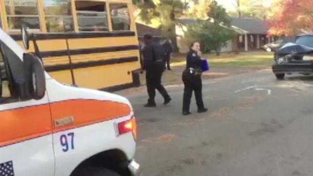 School bus crash plantation blvd