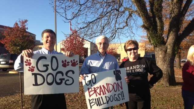 Brandon fans at parade