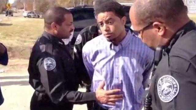 Joshua Archie surrenders to Jackson police.