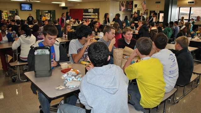 School lunch, cafeteria