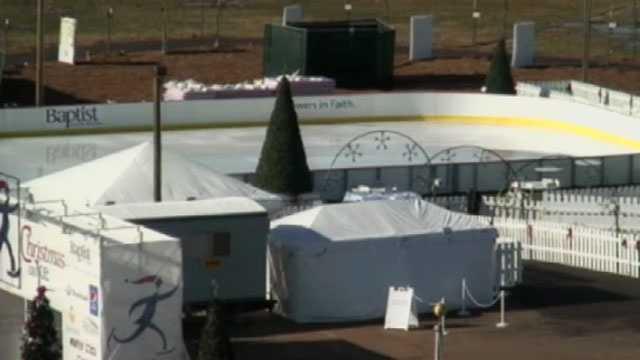 Christmas on Ice closed Monday 2