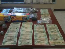 Hinds County sheriff's deputies seize $7,122 in cash during a drug bust Thursday in Jackson.