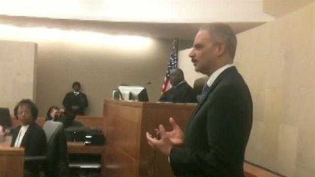 U.S. Attorney General Eric Holder speaks during a naturalization ceremony in Jackson.