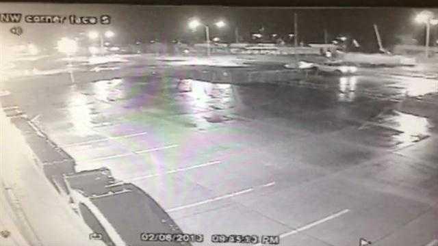 Surveillance video captures 18-wheeler crash