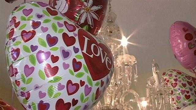 Love balloons valentine's day