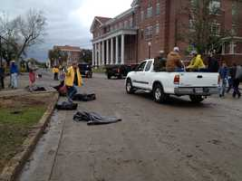 Several buildings on the USM campus were damaged by a tornado that hit the Hattiesburg area on Sunday.