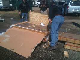 The pot was delivered to Morris Enterprise on East Beasley Road in Jackson, investigators said. It was hidden inside one of these furniture boxes, authorities said.