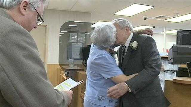Couple gets married at Kroger