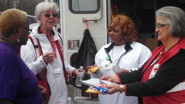 American Red Cross volunteers